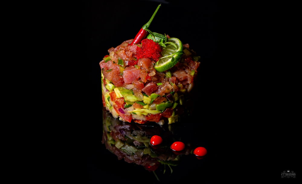 Bluefin tuna tartare with guacamole