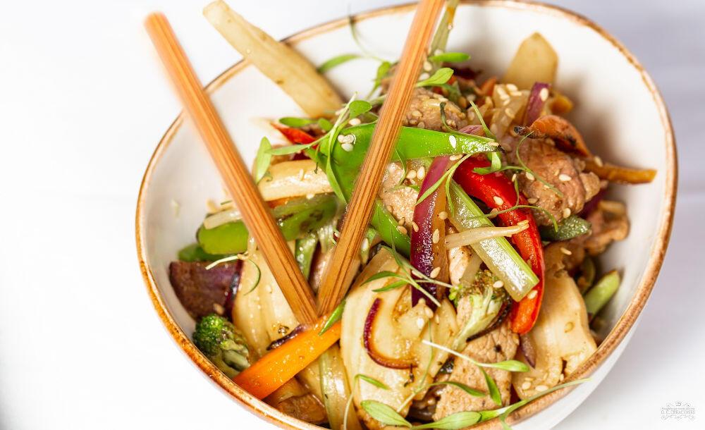 Chop-suey de jabalí