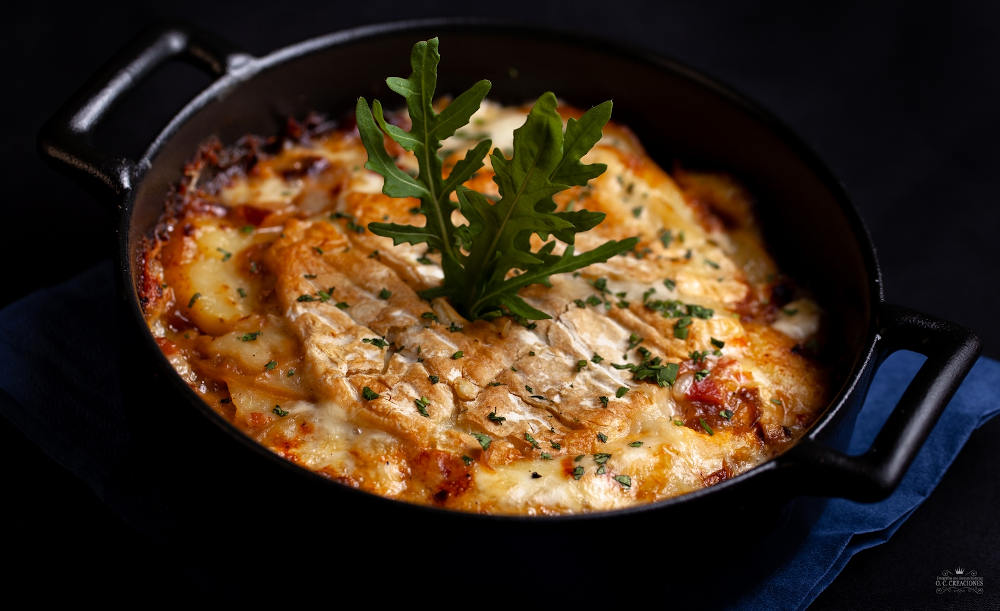 Patatas a la montañesa con gratinado de Peñamellera